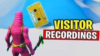 Collect the Visitor Recording on the Moisty Palms and Greasy Grove - Out of Time Challenges