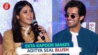 Ekta Kapoor Makes Aditya Seal Blush On Stage