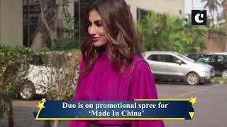 Rajkummar Rao, Mouni Roy on 'Made In China' promotional spree