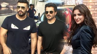 Anil Kapoor, Arjun Kapoor And Parineeti Chopra At The Shoot Of Movie Masti With Maniesh Paul
