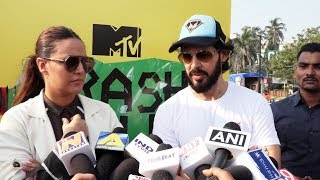 Neha Dhupia And Dino Morea At The Launch Of MTV Trash Talk