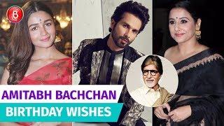 Bollywood Celebs Wish Amitabh Bachchan On His Happy Birthday