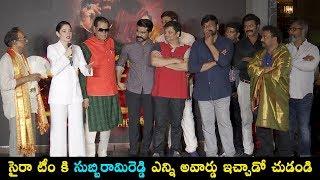 T. Subbarami Reddy Facilitated 'Sye Raa Narasimha Reddy' Movie Team