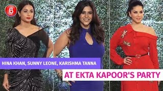Hina Khan, Sunny Leone, Karishma Tanna Attend Ekta Kapoor's Gala Bash