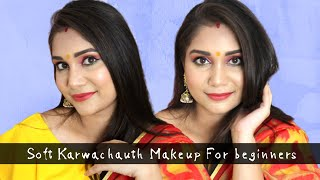Soft Makeup for Karwachauth For Beginners Step by Step in Hindi | Nidhi Katiyar