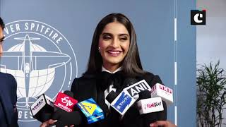 Sonam Kapoor attends event 'suited-up' in black