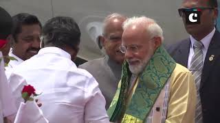 PM Modi arrives at Chennai Airport for 2nd Informal Summit with Chinese President