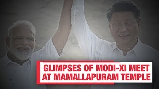 Modi-Xi informal summit: Glimpses of initial meet at Mamallapuram temple