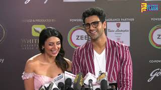 Divyanka Tripathi With Hubby Vivek Dahiya At 12th Gold Awards 2019 - Full Interview