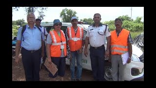 District Road Safety Council Inspects Junctions In Porvorim Jurisdiction
