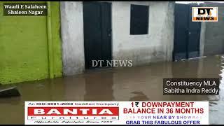 Heavy Rain Lashesh out   In Shaieen Nagar   House's Become (Lake)