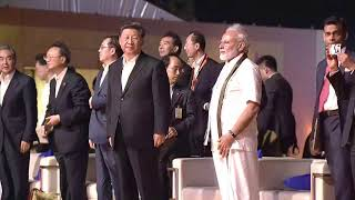 PM Modi and President Xi Jinping attends cultural event at Shore Temple in Mamallapuram, Tamil Nadu