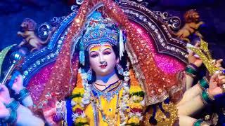 माता जी की मूर्ति के लाइव दर्शन || माँ दुर्गा का पंडाल (Live) || Navratri : Mata Rani Ke Darshan