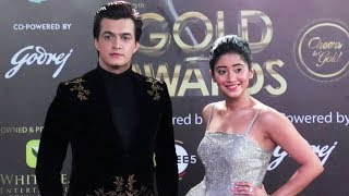 Shivangi Joshi And Mohsin Khan At 12th Gold Awards 2019 | Red Carpet