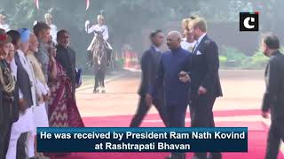 King of Netherlands receives ceremonial reception at Rashtrapati Bhavan