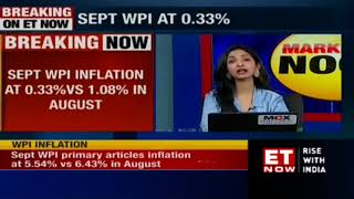 WPI inflation falls to 0.33% in September as against 1.08% in August
