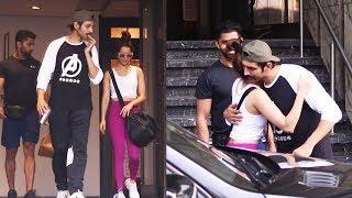 Shraddha Kapoor Along With Kartik Aaryan Spotted At I Think Fitness Juhu