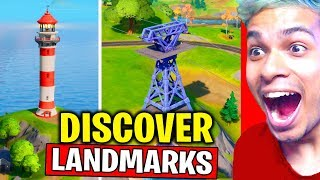 DISCOVER LANDMARKS (ALL 10 LOCATIONS) - NEW WORLD MISSION FORTNITE CHAPTER 2 SEASON 1