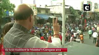 Maha assembly elections Rajnath Singh conducts roadshow in Mumbai
