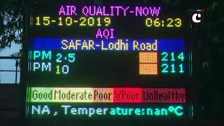 Air Quality in Delhi reaches 'poor' category