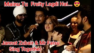 Mr Faisu And Jannat Zubair Sing Together Mainu Tu Fruity Lagdi Hai..