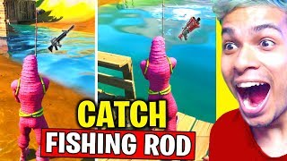 CATCH A WEAPON USING A FISHING ROD - NEW WORLD MISSION (Fortnite Chapter 2 Season 1)