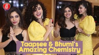 Taapsee Pannu and Bhumi Pednekar's Amazing Chemistry During Promotions Of Saand Ki Aankh