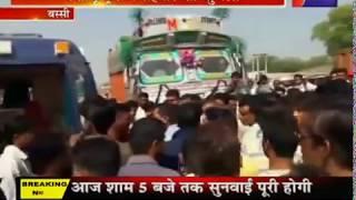 बस्सी में बेकाबू ट्रक ने राहगीर को कुचला, हादसे मे राहगीर की मौत