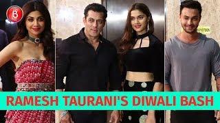 Salman Khan, Shilpa Shetty, Aayush Sharma Attend Ramesh Taurani's Star-Studded Diwali Bash