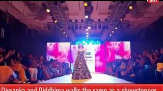 Divyanka Tripathi and Riddhima pandit walks the ramp as a showstopper at #BombayTimesFashionWeek