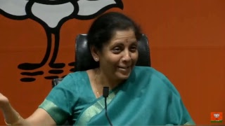 #LIVE: Press Conference by Smt. Nirmala Sitharaman at BJP Head Office, New Delhi