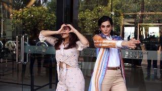 Saand Ki Aankh Promotion | Taapsee Pannu And Bhumi Pednekar Spotted At Novotel Juhu