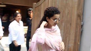 Kangana Ranaut Spotted At Pali Hill Bandra - Watch Video