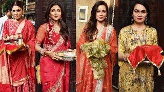 Shilpa Shetty, Raveena Tandon, Neelam And Others Celebrates Karva Chauth At Anil Kapoor's House