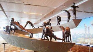 Surya Namaskar Sculpture at Delhi Airport (IGIA) Terminal 3 | Satya Bhanja
