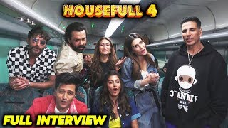 Housefull 4 Star Cast FULL FUNNY Interview In A Running Train