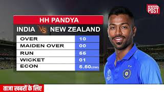 INDIA VS NEW ZEALAND LIVE SCORE, ICC CRICKET WORLD CUP 2019 SEMI FINAL MATCH  - India Bowling Score