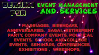 BERHAMPUR    Event Management   Catering Services   Stage Decoration Ideas   Wedding arrangements  