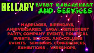 BELLARY  Event Management   Catering Services   Stage Decoration Ideas   Wedding arrangements  