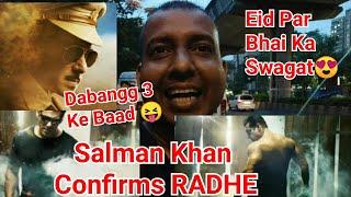 Salman Khan Confirms Radhe Movie For EID 2020 Along With Dabangg 3 New Motion Poster