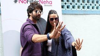Shahid Kapoor And Neha Dhupia At The Recording Of No Filter Neha Season 4