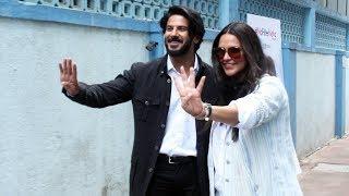 Dulquer Salmaan And Neha Dhupia At The Recording Of No Filter Neha Season 4