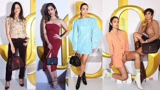 Malaika Arora, Sophie Chaudhari, Sarah Jane Dias At JIMMY CHOO Autumn Winter Collection 2019