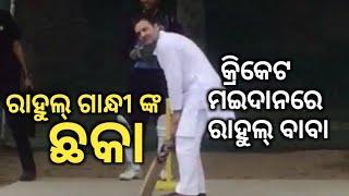 Rahul Gandhi playing Cricket with kids- Election Updates 2019- ଛକା ମାରିଲେ ନା ଆଉଟ୍ ହେଲେ?