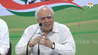 AICC Press Briefing By Kapil Sibal on the Haryana and Maharashtra assembly Election 2019