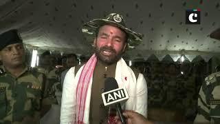 G Kishan Reddy joins BSF jawans for Diwali celebrations in Guwahati