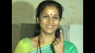 Maharashtra Assembly polls: NCP leader Supriya Sule casts vote in Baramati