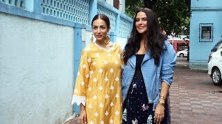 Neha Dhupia & Malaika Arora At The Recording Of No Filter With Neha Season 4 In Khar