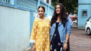 Neha Dhupia & Malaika Arora At The Recording Of No Filter With Neha Season 4 In Khar