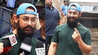 Aamir Khan Casts His Vote, Urges Citizens To Come Out And Vote | Maharashtra Election 2019